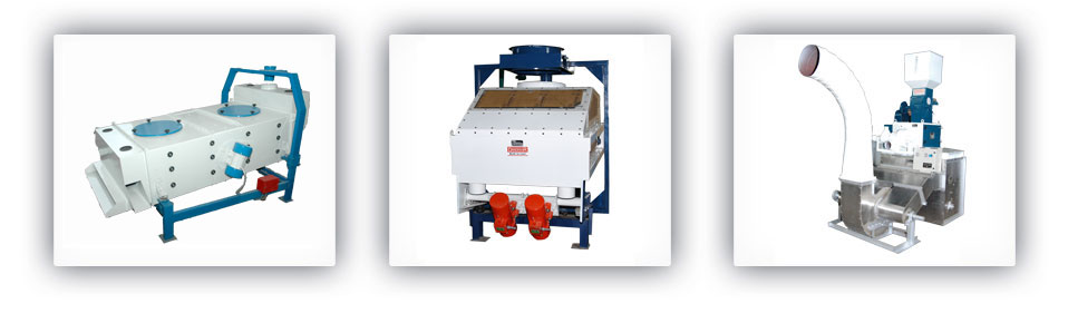 Vibro Cleaner::Vibro Destoner::Pneumatic Sheller with Husk Separator
